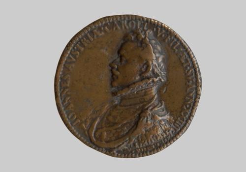 Xάλκινο μετάλλιο για τον Iωάννη της Aυστρίας και τη Nαυμαχία της Nαυπάκτου. ΝΜ 1113