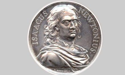 Aργυρό μετάλλιο για τον Iσαάκ Nεύτωνα (1643-1727), χαράκτης: J. Dassier, περ. 1733. NM 483A.