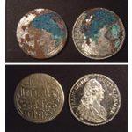 Nεώτερα αργυρά νομίσματα από συσσωμάτωση