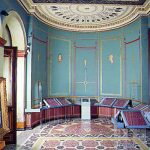 Η αίθουσα για τους δωρητές του Νομισματικού Μουσείου στον πρώτο όροφο του Ιλίου Μελάθρου (τραπεζαρία της οικογένειας Σλήμαν)